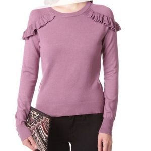 ITS OUR TIME Ruffle Long Sleeve Comfy Knit Sweater